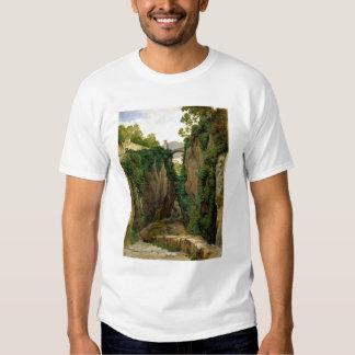 Barranco rocoso en Sorrento, 1823 Remera