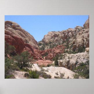Barranco rojo 0776 de la roca póster