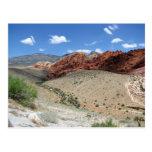 Barranco rojo 1 de la roca tarjeta postal