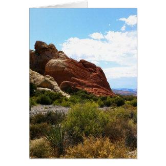Barranco rojo de la roca cerca de Las Vegas Tarjeta