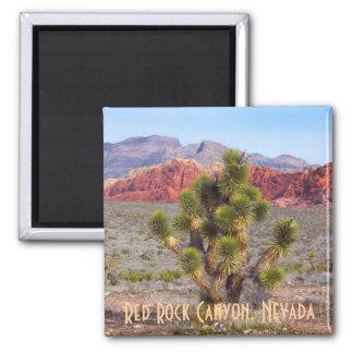 Barranco rojo de la roca, Nevada Imán Cuadrado