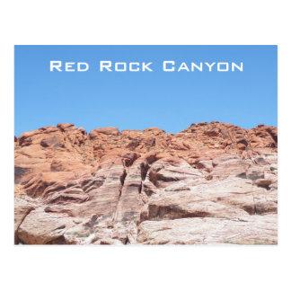 Barranco rojo de la roca postal