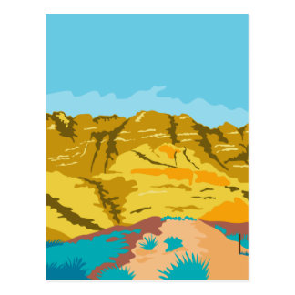 Barranco rojo WPA de la roca Tarjetas Postales
