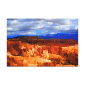 Barranco Utah de Bryce Impresión De Lienzo