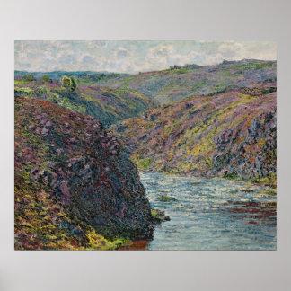 Barrancos de la Creuse al final del día Póster