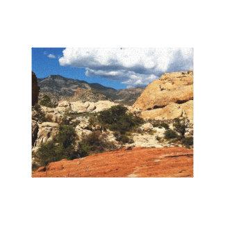 Barrancos del desierto de la naturaleza impresión de lienzo