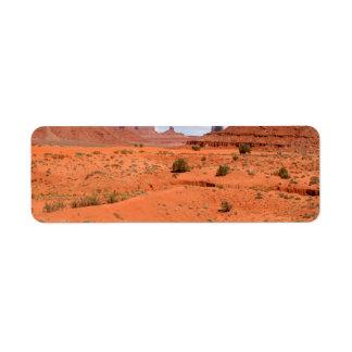 Barrancos del desierto etiquetas de remite