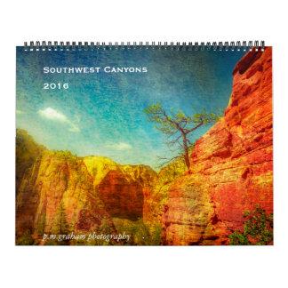 Barrancos del sudoeste calendario de pared