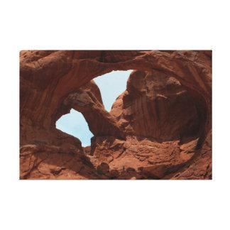 Barrancos rojos de la roca de Moab Utah Lona Estirada Galerias