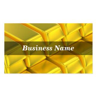 Barras apiladas del lingote del oro tarjeta de negocio