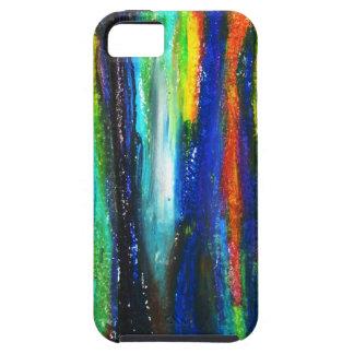 Barras azules (pintura del expresionismo abstracto iPhone 5 Case-Mate cárcasas