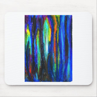 Barras azules (pintura del expresionismo abstracto tapete de ratones