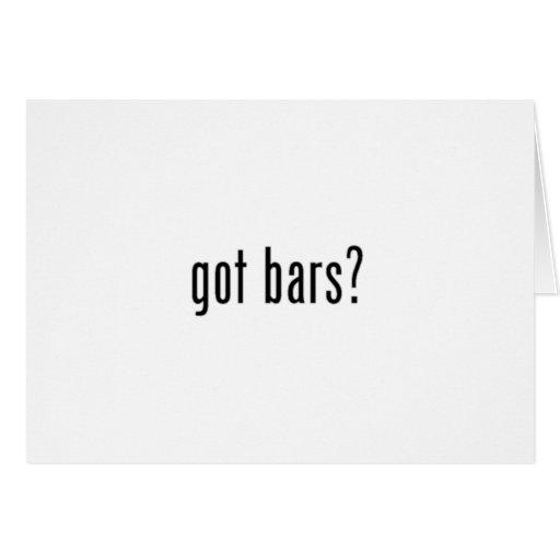¿barras conseguidas? tarjeta de felicitación blanc