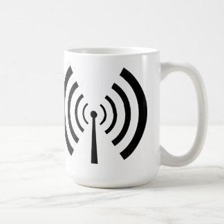 Barras de la señal de radio taza clásica