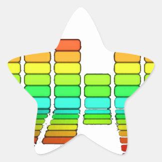 barras de los sonidos pegatina en forma de estrella