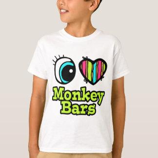 Barras de mono brillantes del amor del corazón I Remeras