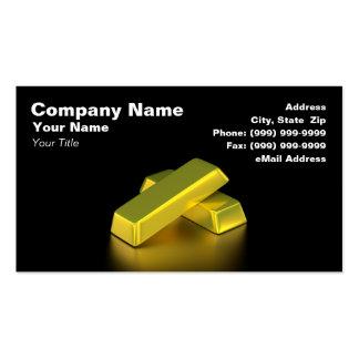 Barras de oro plantillas de tarjeta de negocio