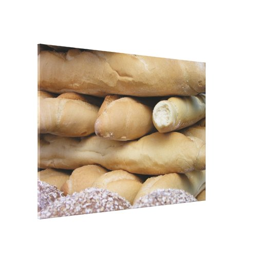 Barras de pan impresión de lienzo