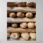 Barras de pan poster