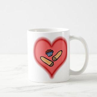 barras de pan taza