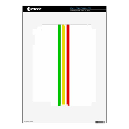 Barras de Rasta iPad 2 Skins