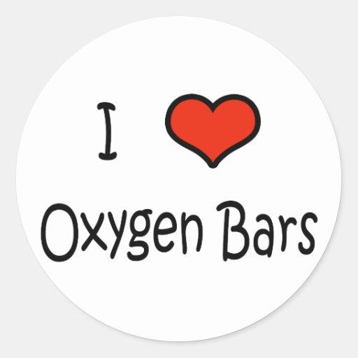Barras del oxígeno pegatina redonda