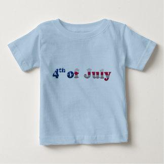 Barras y estrellas 4tas de la camiseta del bebé de playeras