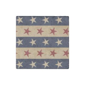 Barras y estrellas americana imán de piedra