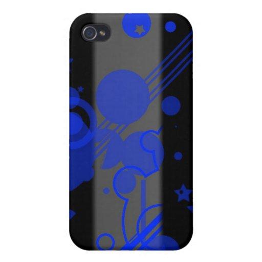Barras y estrellas - azul iPhone 4 fundas