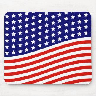 Barras y estrellas bandera americana 4 de julio alfombrilla de ratón