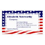 Barras y estrellas bandera americana 4 de julio tarjeta de visita