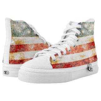 Barras y estrellas - bandera americana del vintage zapatillas