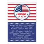 Barras y estrellas Bbq patriótico del 4 de julio Invitación
