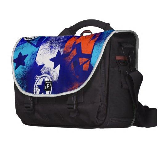 Barras y estrellas bolsas para portatil
