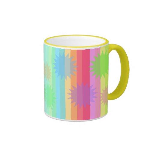 Barras y estrellas con una torsión tazas de café