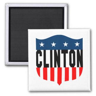 barras y estrellas de hillary Clinton Imán Cuadrado