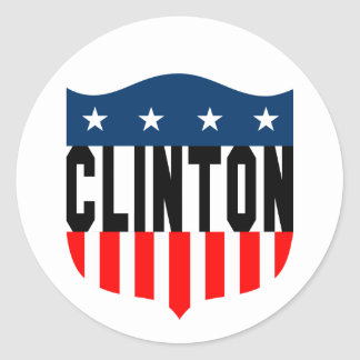 barras y estrellas de hillary Clinton Pegatina Redonda