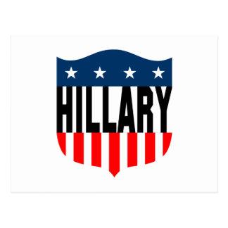barras y estrellas de hillary Clinton Postales