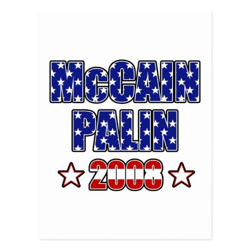 Barras y estrellas de McCain Palin Postales