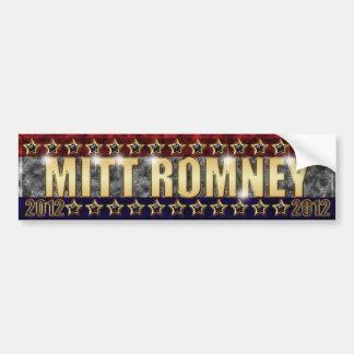 Barras y estrellas de Mitt Romney Etiqueta De Parachoque