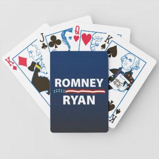 Barras y estrellas de Romney Ryan Baraja De Cartas