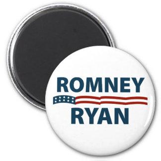 Barras y estrellas de Romney Ryan Imán Redondo 5 Cm
