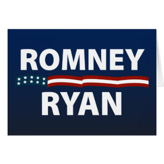 Barras y estrellas de Romney Ryan Tarjeta De Felicitación