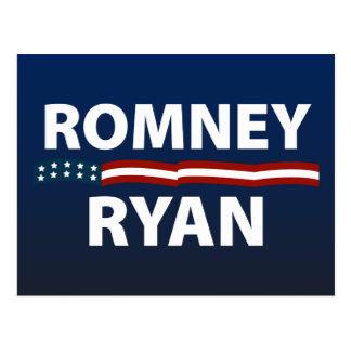 Barras y estrellas de Romney Ryan Tarjeta Postal