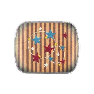Barras y estrellas del circo del vintage jarrones de dulces