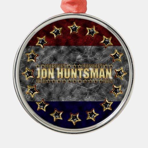 Barras y estrellas del Huntsman de Jon Adorno Navideño Redondo De Metal