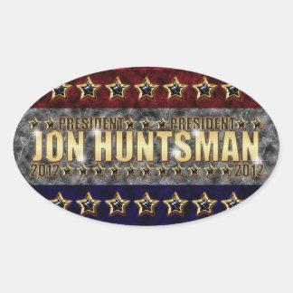 Barras y estrellas del Huntsman de Jon Pegatina De Óval Personalizadas