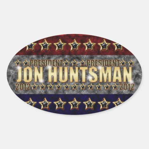 Barras y estrellas del Huntsman de Jon Pegatina Ovalada