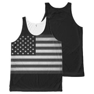 Barras y estrellas del vintage camiseta de tirantes con estampado integral
