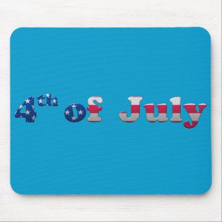 Barras y estrellas el 4 de julio Mousepad Tapetes De Ratones